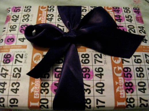 bingo paper or gift wrap paper?