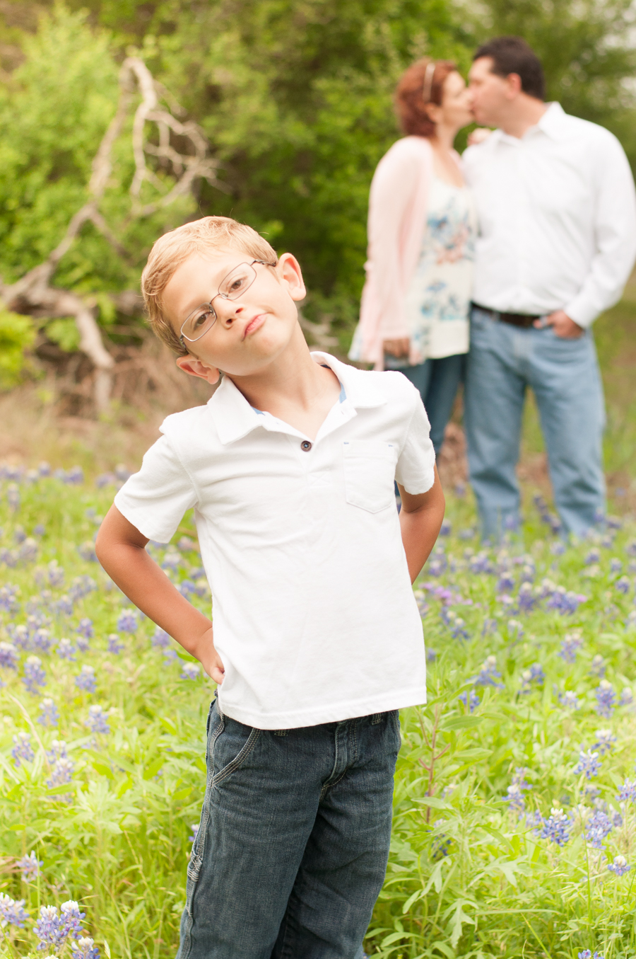 Texas Family Portrait Session in Bluebonnets